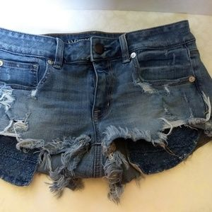 AMERICAN EAGLE AEO Shorties Distressed Shorts